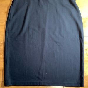 NWT - Navy Blue Pencil Skirt with Back Zipper.
